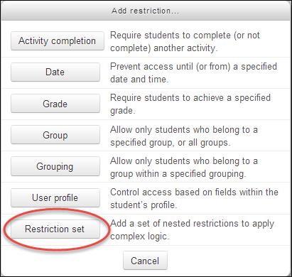 3 - restriction set