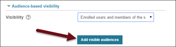 Selecting the audience