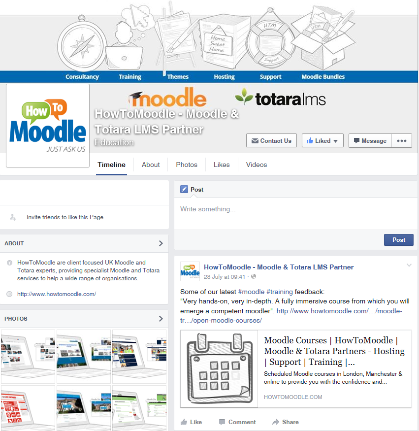 HowToMoodle Facebook Page