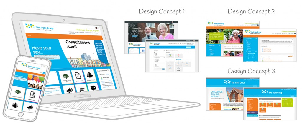 3 concepts design Moodle theme