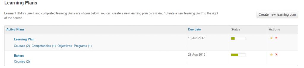 Track progress of learning plan in Totara