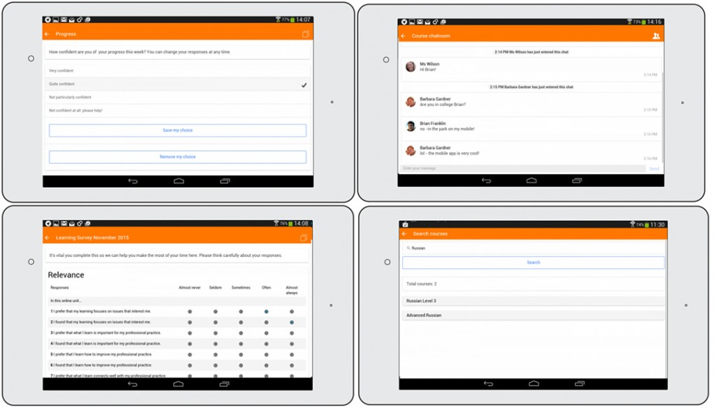 Moodle Mobile 3.0 features