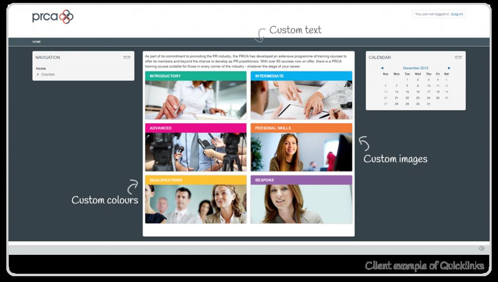 PRCA - Quicklinks theme example