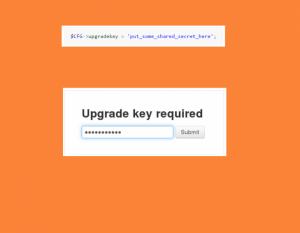 Upgrade key security Moodle 3.0