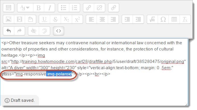 Adding a class to HTML view