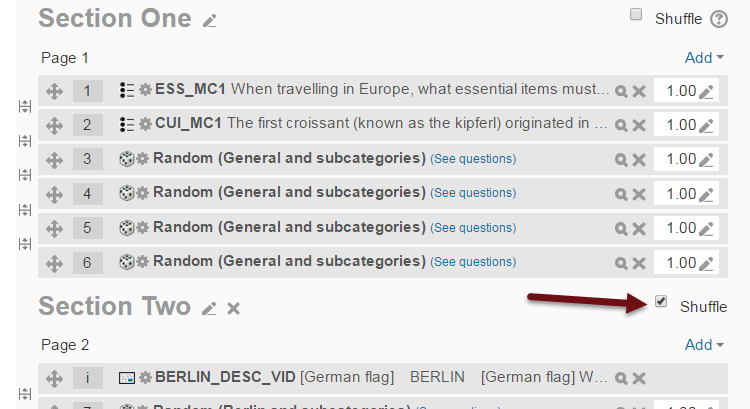 Moodle 2.9 shuffle questions in quiz module
