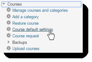 Course defaults