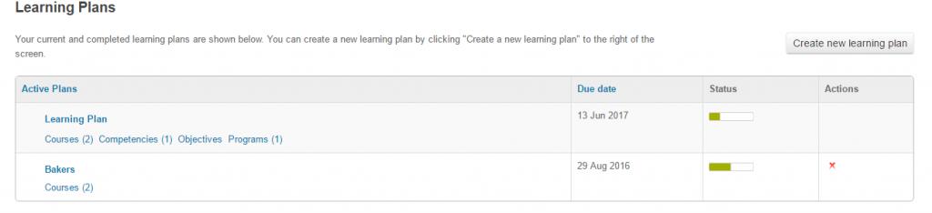 Learner track progress of learning plan in Totara LMS
