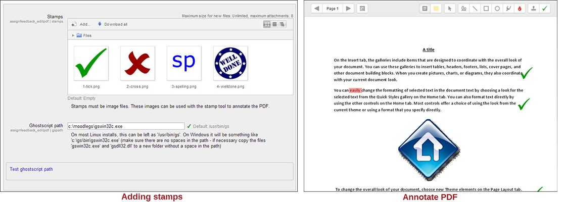 stamps and annotate pdf