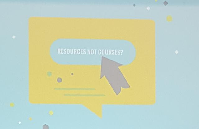 Resources not courses Learning Technologies 2018   HowToMoodle