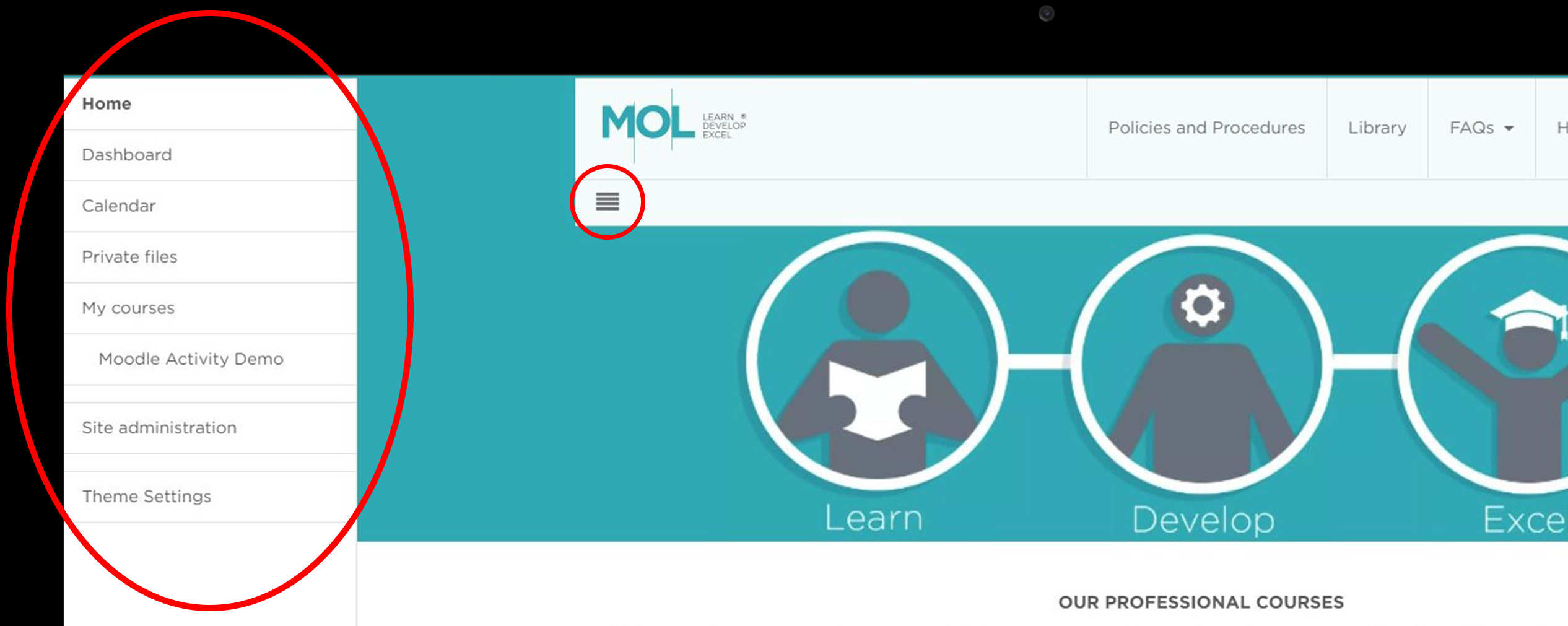 Moodle theme Custom menu for mobile.png